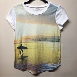 Aeropostale Surfer Graphic Tee Size Small
